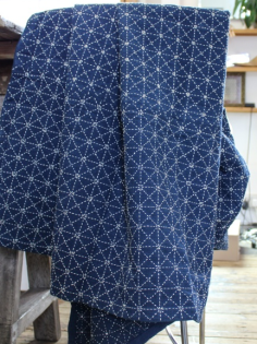 Cloth House Indigo Stitched Blankets