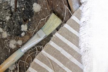 Cloth House Painted Stripe Linen